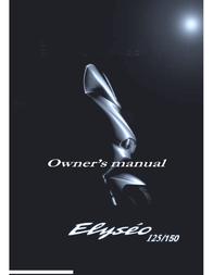 Peugeot ELYSEO 125 User Manual