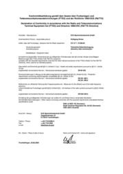 Svs Nachrichtentechnik CX-12 T / 01280.00 433MHz Radio Component CX-12 T / 01280.00 Data Sheet