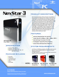 Vantec NexStar 3 NST-260U2-BK NST-260U2-BK Leaflet