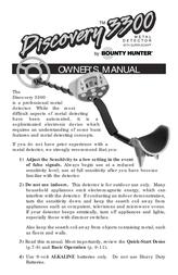 Bounty Hunter LEGACY 3300 User Manual