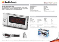 AudioSonic Clock radio CL-471 Leaflet