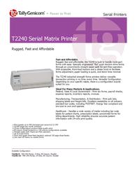 TallyGenicom T2240 Serial Matrix Printer 043260 User Manual