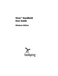 Handspring Visor User Manual
