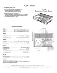 EIKI Classroom Audio Center 7070A Leaflet