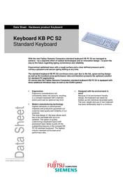 "Fujitsu KEYBOARD KBPC S2 """"US INT."""" S26381-K297-V110 데이터 시트"