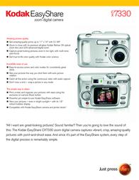 Kodak EASYSHARE CX7330 3902954 User Manual