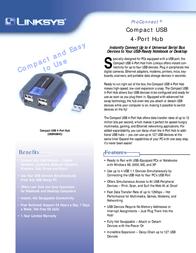 Linksys Compact USB 4-Port Hub USBHUB4C-EU Leaflet