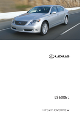 Lexus LS 600h L User Manual