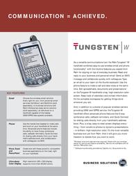 Palm TUNGSTEN W P80505VOUK Leaflet
