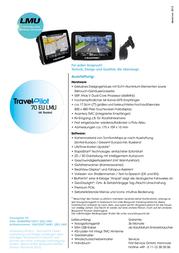 Blaupunkt Travel Pilot 70 LMU 1081234710001 Leaflet