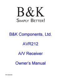 B&K AVR212 User Manual