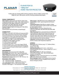 Planar Systems PD8150 Leaflet