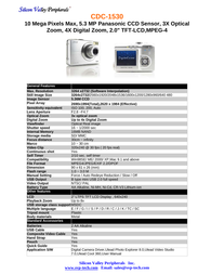 SVP cdc-1530 Specification Guide