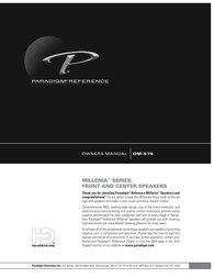 Paradigm OM-575 User Manual