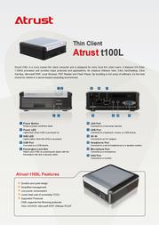 Atrust T100L 01-TC100068-65 Leaflet