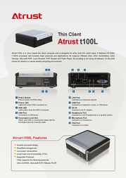 Atrust T100L 01-TC100068-65 Prospecto