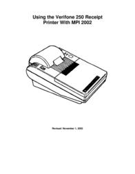 VeriFone 250 User Manual