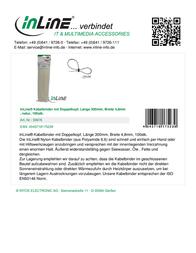 InLine Mountable Double-Head Ties 59976 Leaflet