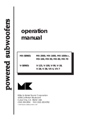 MK Sound MX-1000cc User Manual