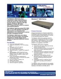 Mediatrix 3000 Brochura