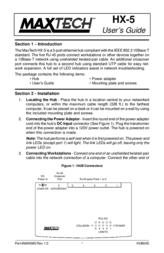 MAXTECH HX-5 User Manual