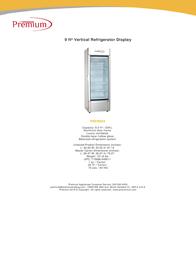 Premium PRF90DX Specification Sheet