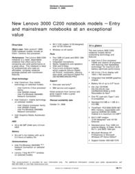 Lenovo 3000 C200 TZ0AZFR User Manual