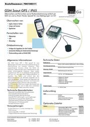 ConiuGo 700100211 Scout GSM Remote Switch Control Module 700100211 Data Sheet