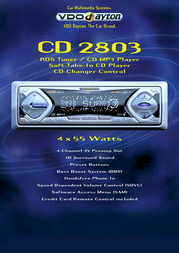 Dayton CD 2803 RDS Tuner / CD MP3 Player CD2803 Leaflet