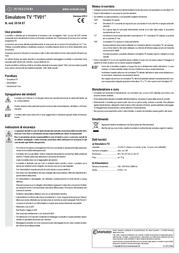 Gao Television simulator TV01 TV01 Data Sheet