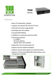 Compucase 7K09 7K09B-U Leaflet
