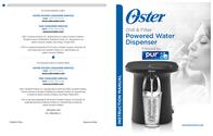 Oster Chill & Filter Powered Water Dispenser User Manual