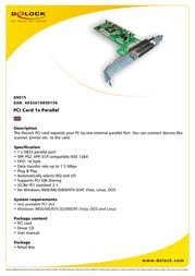 DeLOCK PCI card 1x parallel 89015 Leaflet