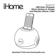 iHome ip15 User Manual