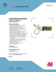 Lava DSERIAL-PCI/LP Leaflet
