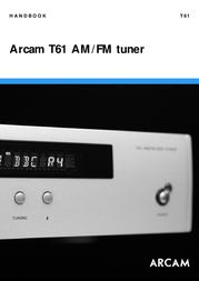 Arcam T61 User Manual