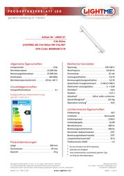 LIGHTME LED (monochrome) 300 mm 230 V S14s 5 W Warm white ATT.CALC.EEK: A+ Tube shape Content 1 pc(s) LM85121 Data Sheet