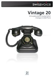 SwissVoice Vintage 20 20405040 Leaflet