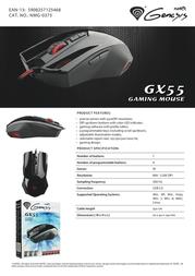 Natec GX55 NMG-0375 Merkblatt