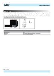 Whd Switch box accessoriesWall bracket / docking station White 113-011-03-000-00 Data Sheet