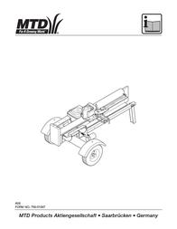 MTD Backyard Playset A06 User Manual