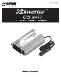WAGAN 175 Watt AC to DC Power Inverter User Manual