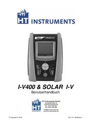 Ht Instruments I-V400Solar meter, photovoltaic meter CAT III 300 V 1008660 User Manual