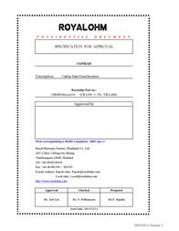 Royalohm Carbon film resistor 68 kΩ axial lead 0207 0.25 W CFR0W4J0683A50 1 pc(s) CFR0W4J0683A20 Data Sheet