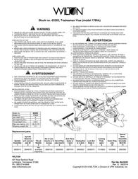 Wilton Tradesman Vise 63202 Leaflet