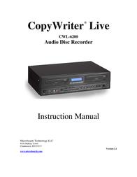 Microboards Technology MicroBoards CopyWriter Live CWL-6200 User Manual
