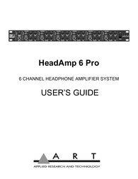 ART headamp 6 pro User Guide