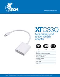 Xtech XTC-330 Leaflet