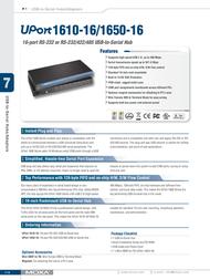 Moxa UPort 1650-16 UPORT 1650-16 Leaflet