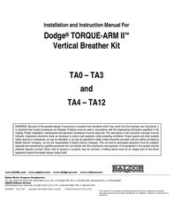 Dodge Automobile Accessories TA0 - TA3 Leaflet